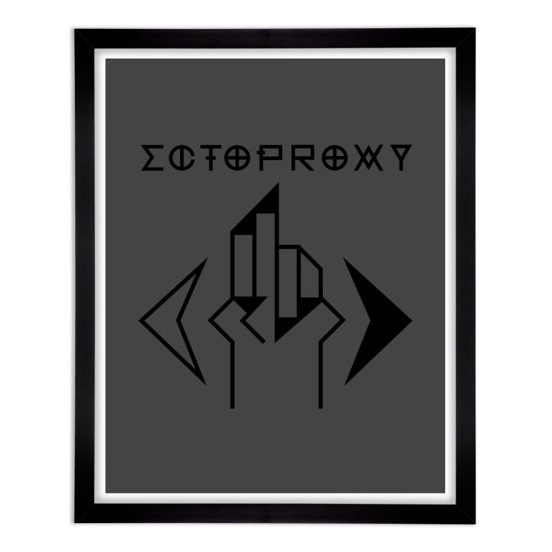 Ectoproxy (black) Home Framed Fine Art Print by Venus Aeon (clothing)