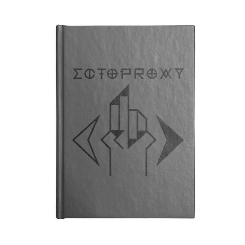 Ectoproxy (black) Accessories Blank Journal Notebook by Venus Aeon (clothing)