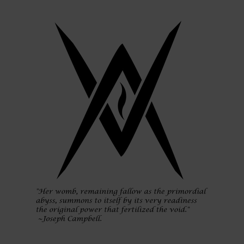 Tantric Black Flame (black) w/ quote Women's Triblend T-shirt by Venus Aeon (clothing)