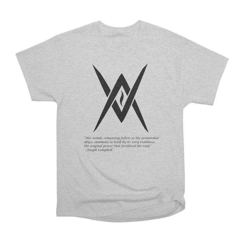 Tantric Black Flame (black) w/ quote Men's T-Shirt by Venus Aeon (clothing)