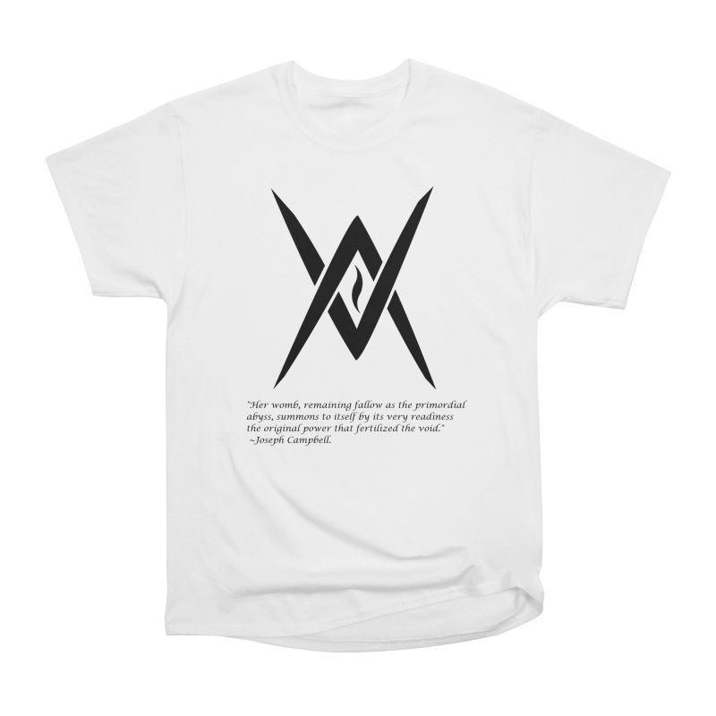 Tantric Black Flame (black) w/ quote Women's Heavyweight Unisex T-Shirt by Venus Aeon (clothing)