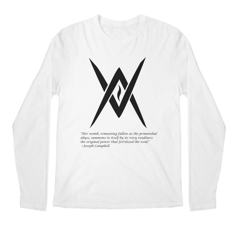 Tantric Black Flame (black) w/ quote Men's Longsleeve T-Shirt by Venus Aeon (clothing)