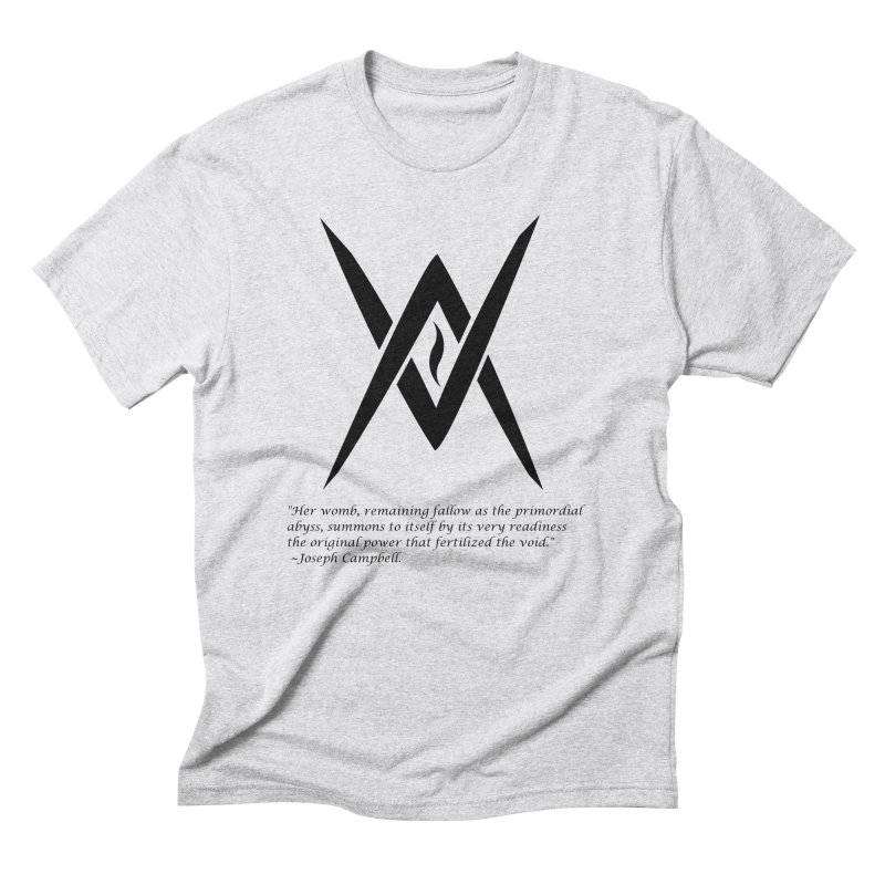 Tantric Black Flame (black) w/ quote Men's Triblend T-shirt by Venus Aeon (clothing)