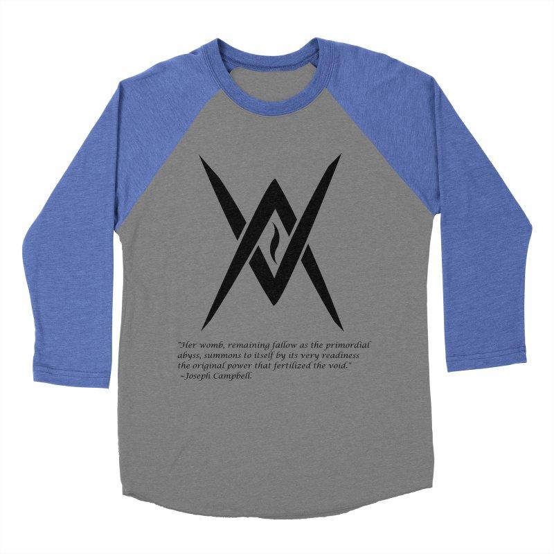 Tantric Black Flame (black) w/ quote Women's Baseball Triblend T-Shirt by Venus Aeon (clothing)