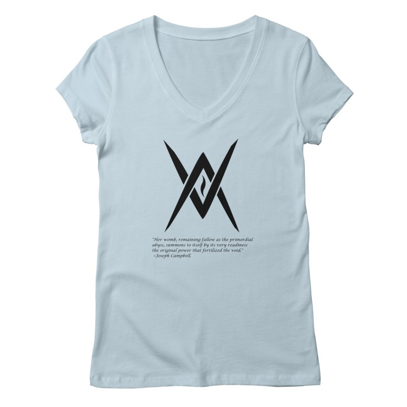 Tantric Black Flame (black) w/ quote Women's V-Neck by Venus Aeon (clothing)