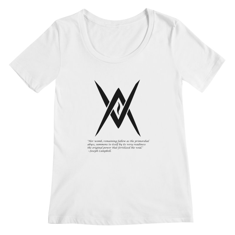Tantric Black Flame (black) w/ quote Women's Scoopneck by Venus Aeon (clothing)