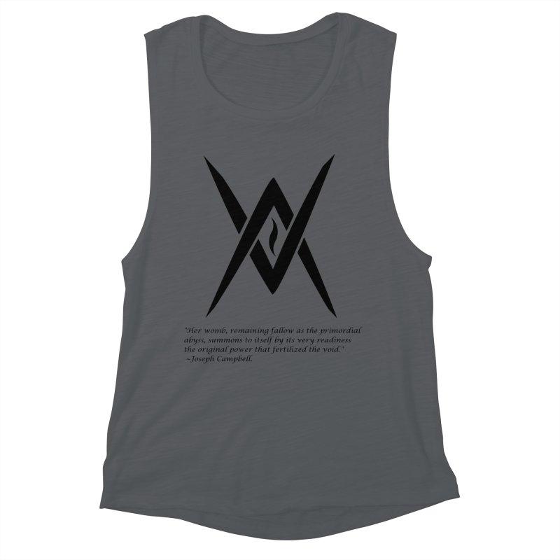Tantric Black Flame (black) w/ quote Women's Tank by Venus Aeon (clothing)
