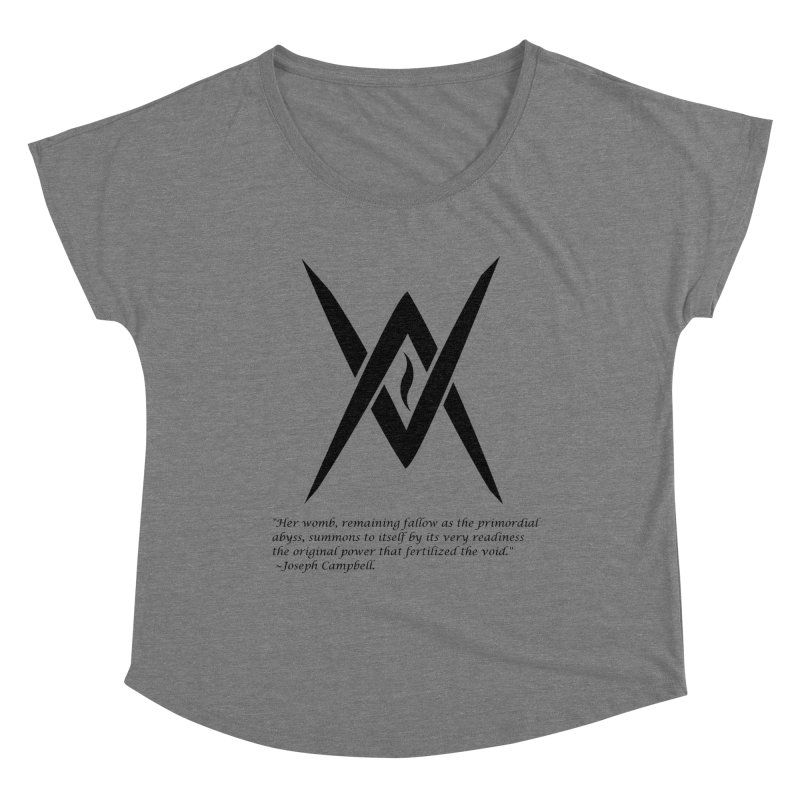 Tantric Black Flame (black) w/ quote Women's Scoop Neck by Venus Aeon (clothing)