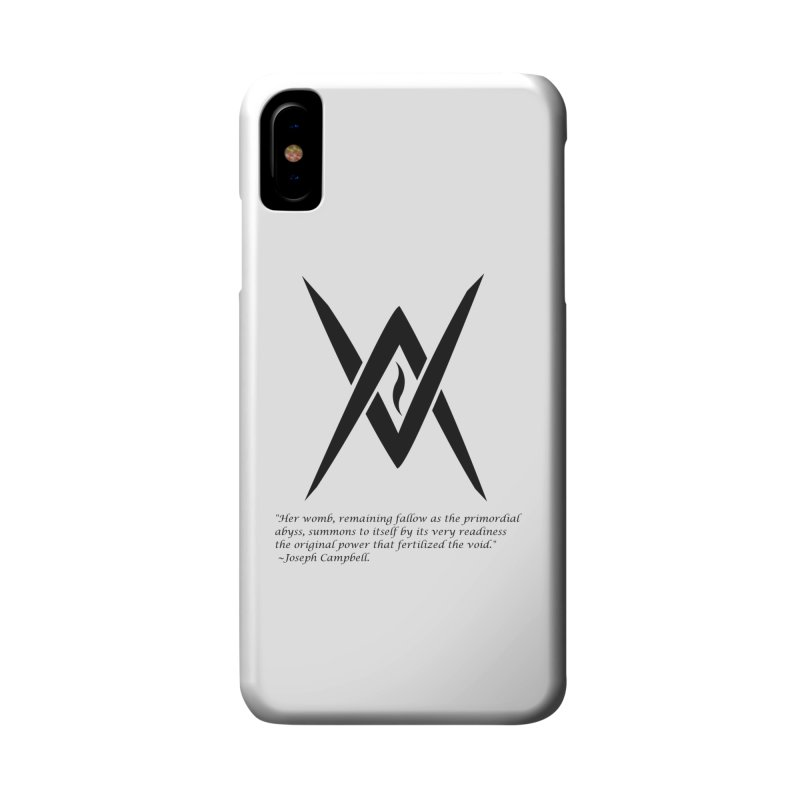 Tantric Black Flame (black) w/ quote Accessories Phone Case by Venus Aeon (clothing)