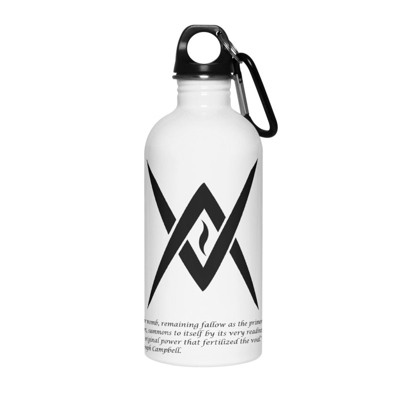 Tantric Black Flame (black) w/ quote Accessories Water Bottle by Venus Aeon (clothing)