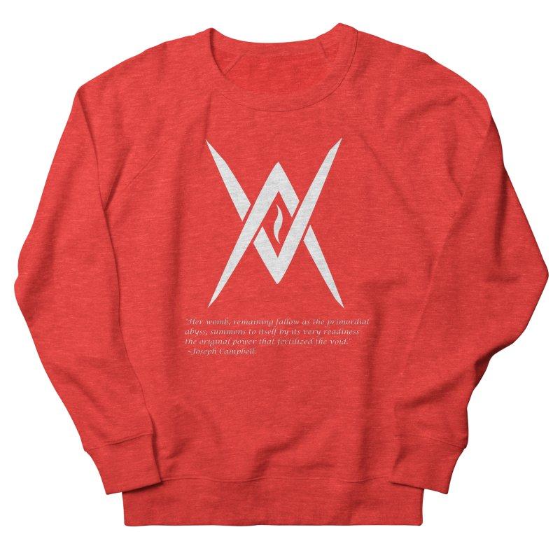 Tantric Black Flame (white) w/ quote Men's Sweatshirt by Venus Aeon (clothing)