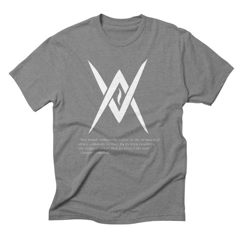 Tantric Black Flame (white) w/ quote Men's Triblend T-Shirt by Venus Aeon (clothing)