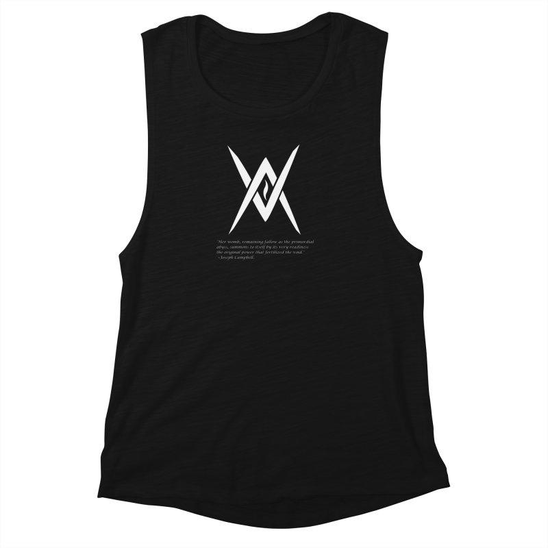 Tantric Black Flame (white) w/ quote Women's Tank by Venus Aeon (clothing)