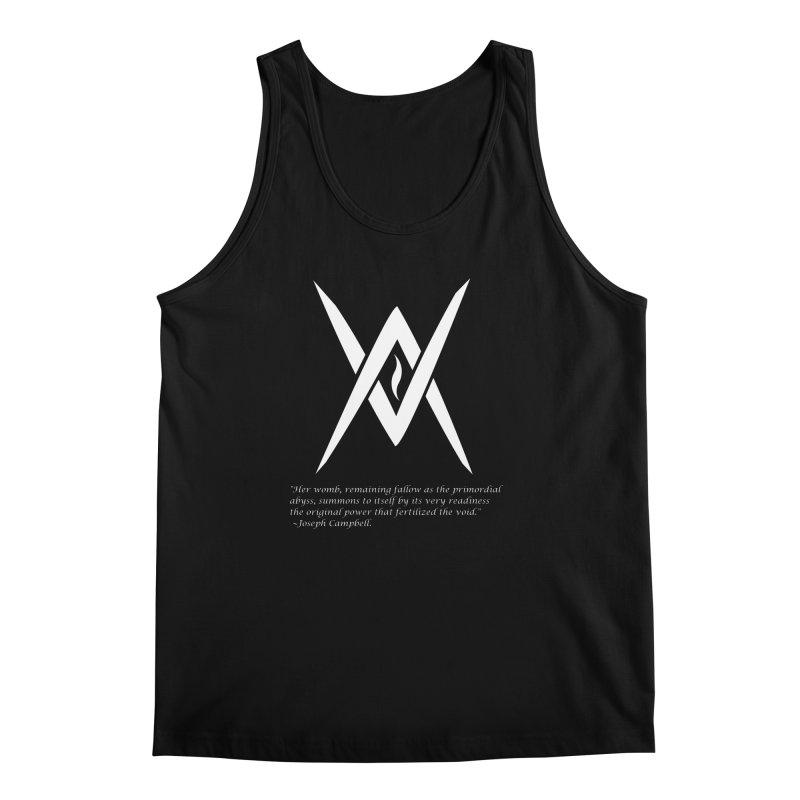 Tantric Black Flame (white) w/ quote Men's Regular Tank by Venus Aeon (clothing)