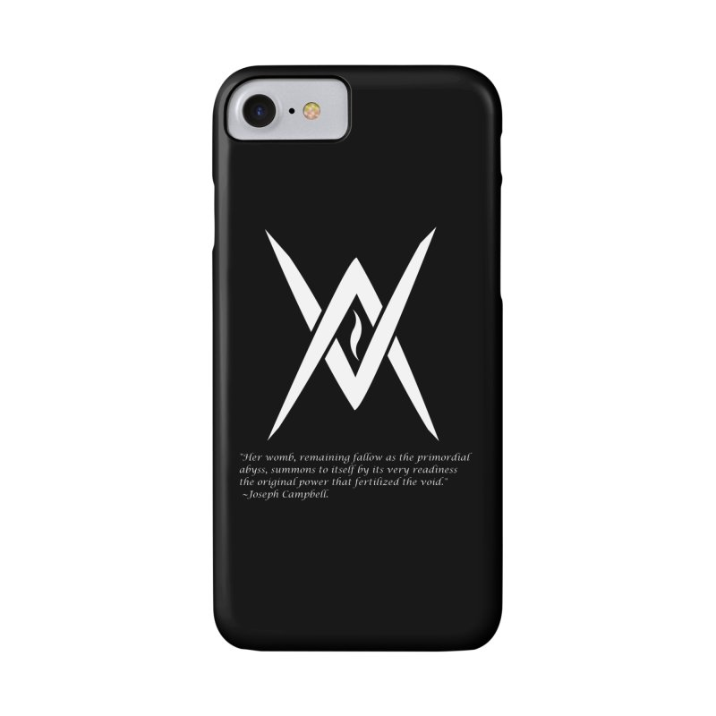 Tantric Black Flame (white) w/ quote Accessories Phone Case by Venus Aeon (clothing)