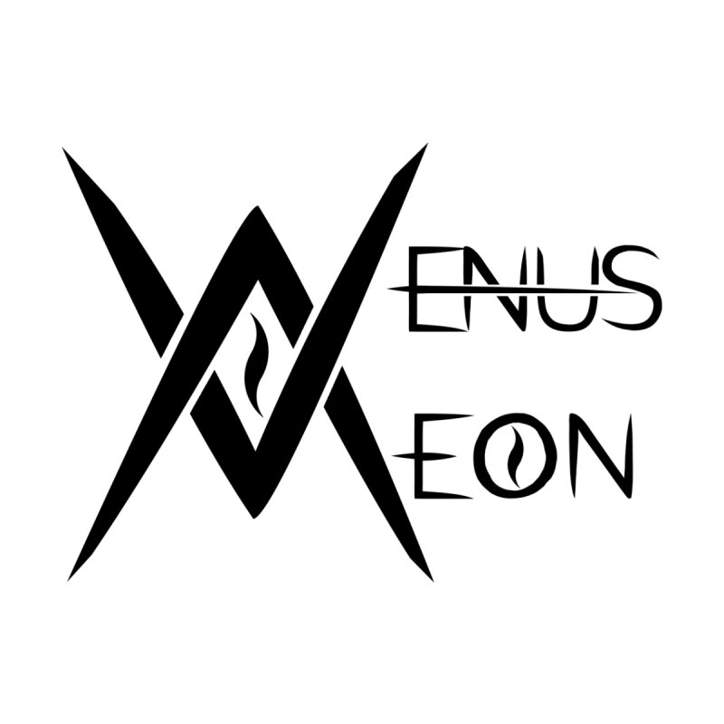 Venus Aeon logo (black) Home Framed Fine Art Print by Venus Aeon (clothing)