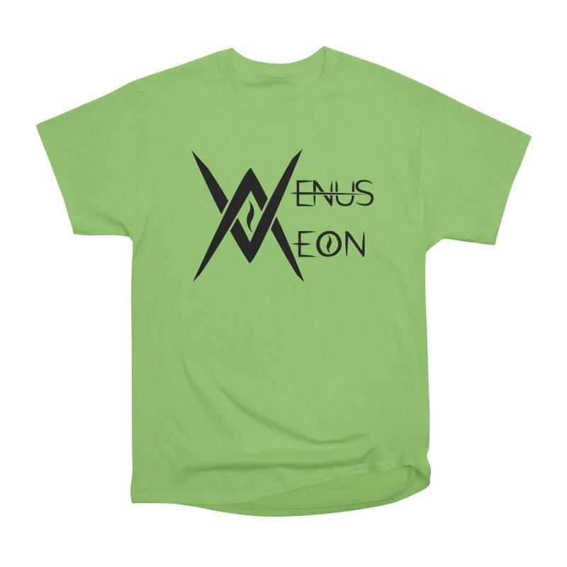 Venus Aeon logo (black) Women's Heavyweight Unisex T-Shirt by Venus Aeon (clothing)