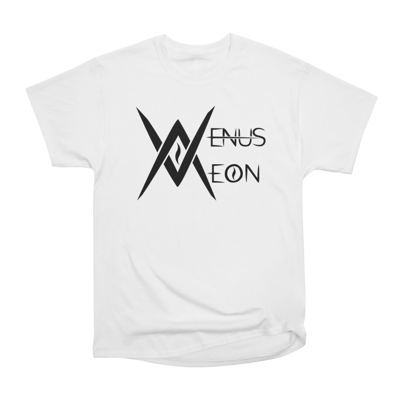 Venus Aeon logo (black) Women's Heavyweight Unisex T-Shirt by Venus Aeon (clothing)