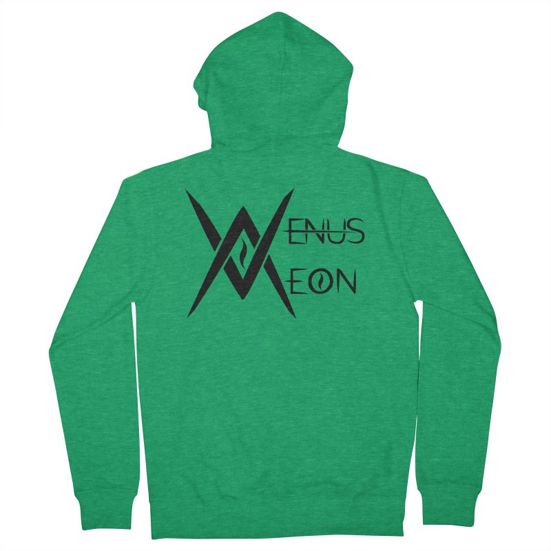 Venus Aeon logo (black) Men's Zip-Up Hoody by Venus Aeon (clothing)