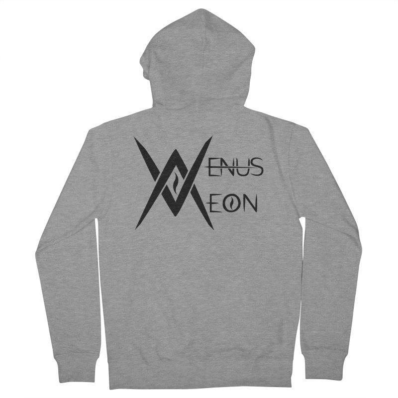 Venus Aeon logo (black) Men's French Terry Zip-Up Hoody by Venus Aeon (clothing)