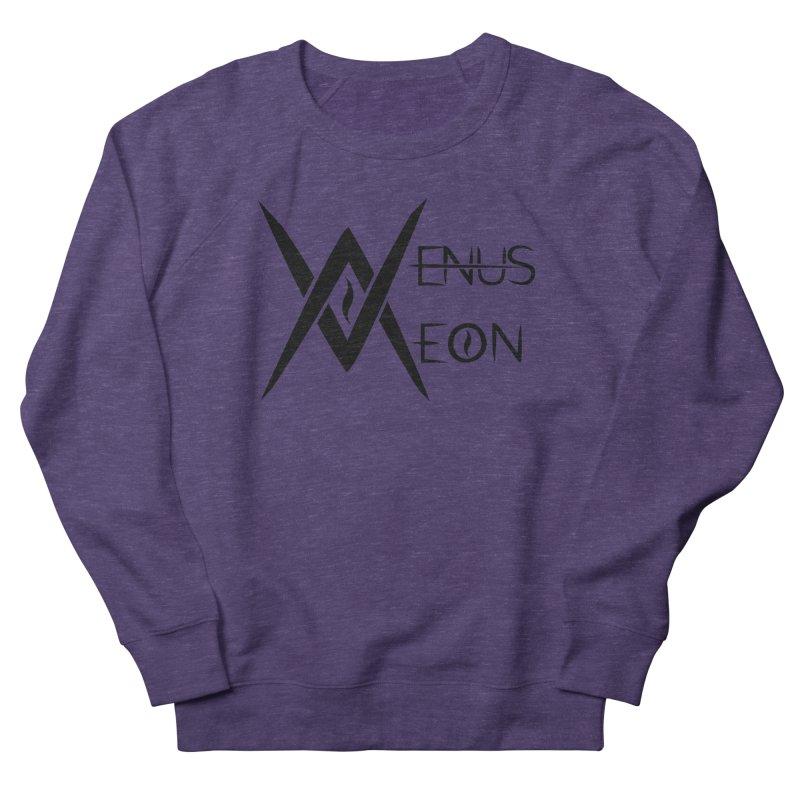 Venus Aeon logo (black) Men's French Terry Sweatshirt by Venus Aeon (clothing)
