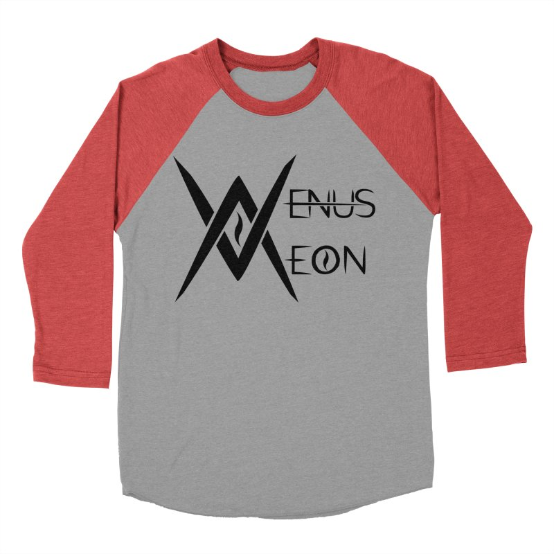 Venus Aeon logo (black) Men's Baseball Triblend T-Shirt by Venus Aeon (clothing)