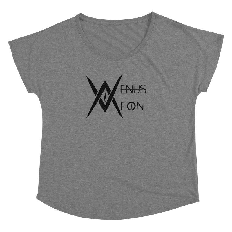 Venus Aeon logo (black) Women's Dolman Scoop Neck by Venus Aeon (clothing)
