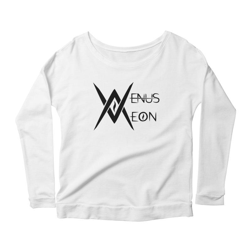 Venus Aeon logo (black) Women's Scoop Neck Longsleeve T-Shirt by Venus Aeon (clothing)