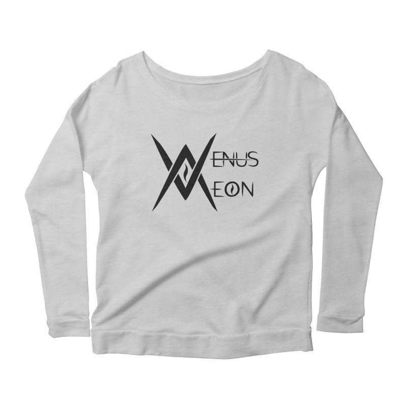 Venus Aeon logo (black) Women's Longsleeve Scoopneck  by Venus Aeon (clothing)