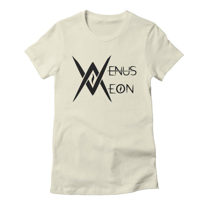 Venus Aeon logo (black) Women's Fitted T-Shirt by Venus Aeon (clothing)