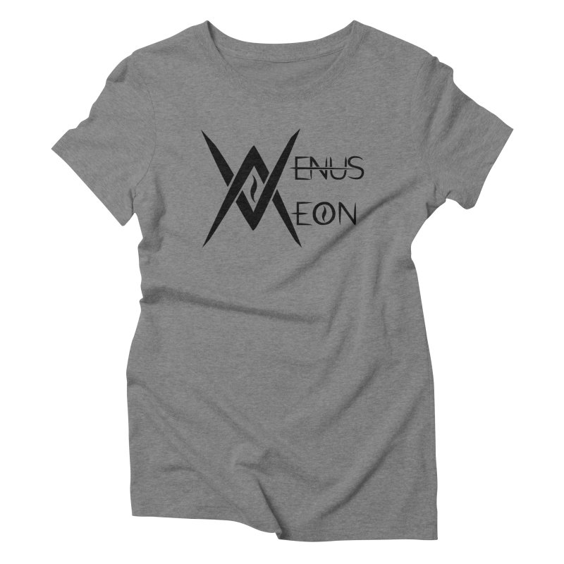 Venus Aeon logo (black) Women's Triblend T-shirt by Venus Aeon (clothing)