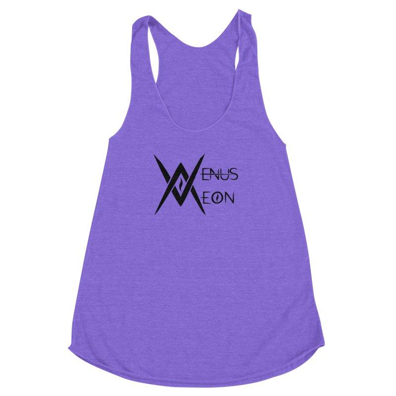 Venus Aeon logo (black) Women's Racerback Triblend Tank by Venus Aeon (clothing)