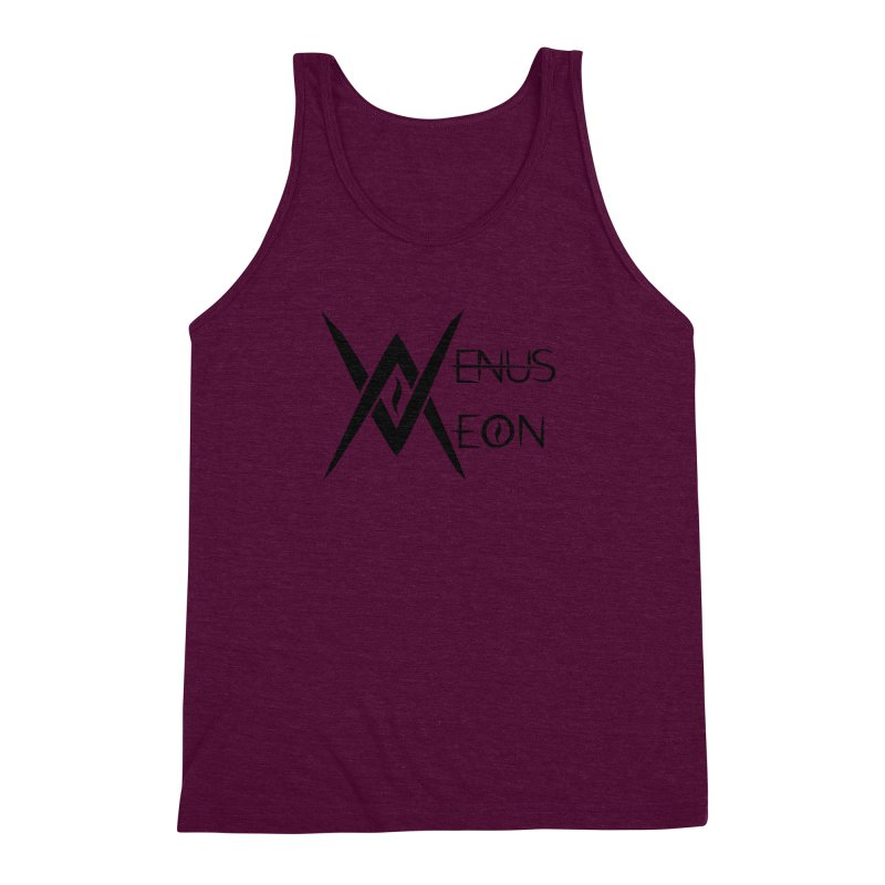 Venus Aeon logo (black) Men's Triblend Tank by Venus Aeon (clothing)