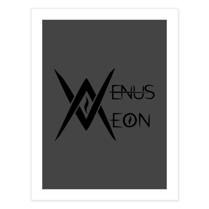 Venus Aeon logo (black) Home Fine Art Print by Venus Aeon (clothing)