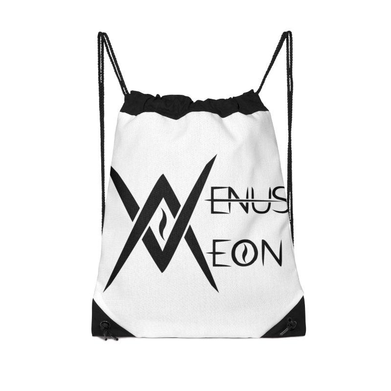 Venus Aeon logo (black) Accessories Drawstring Bag Bag by Venus Aeon (clothing)