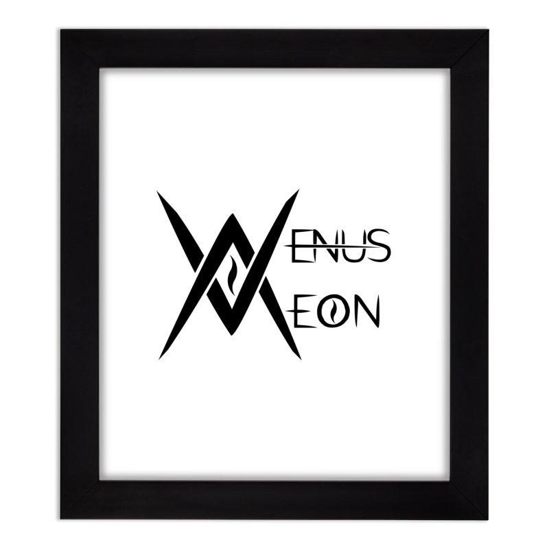 Venus Aeon logo (black) Home Framed Fine Art Print by Venus Aeon (clothing)