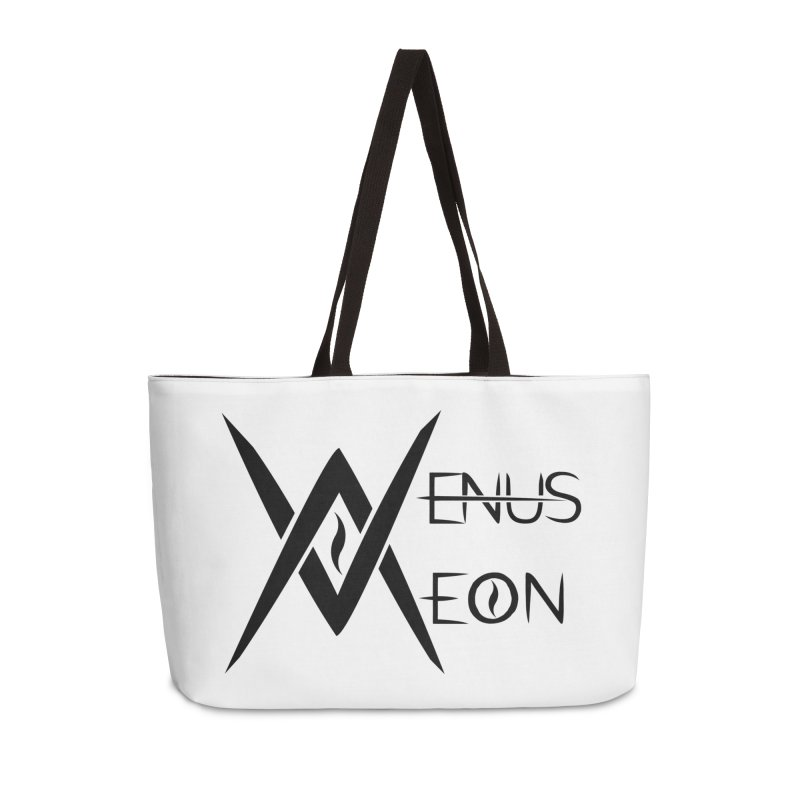 Venus Aeon logo (black) Accessories Weekender Bag Bag by Venus Aeon (clothing)