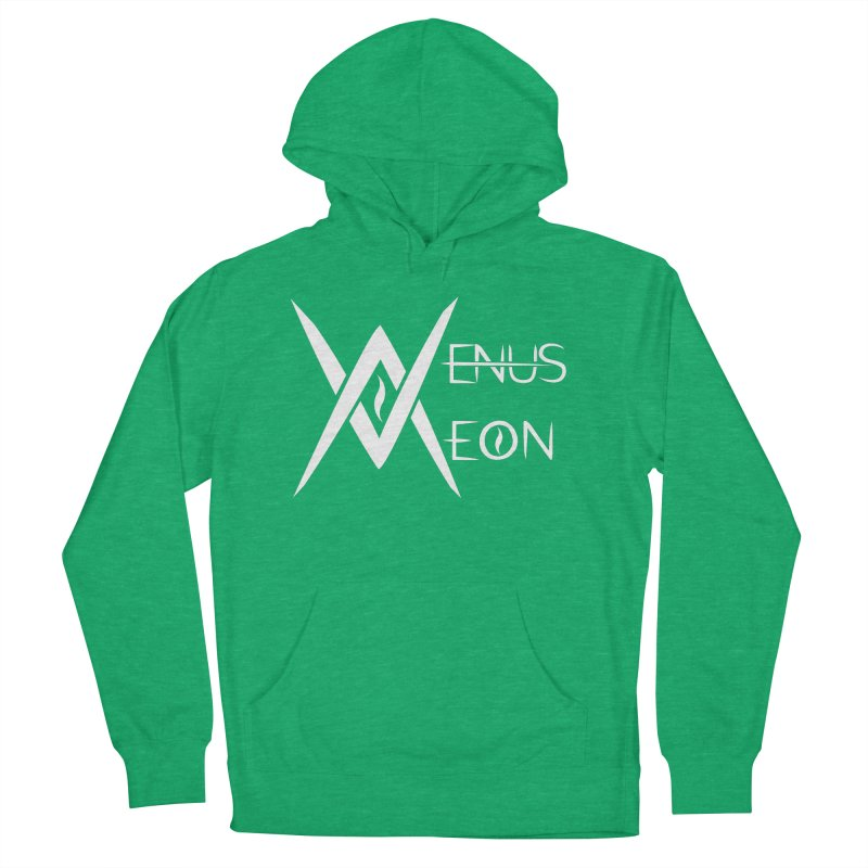 Venus Aeon logo (white) Men's French Terry Pullover Hoody by Venus Aeon (clothing)