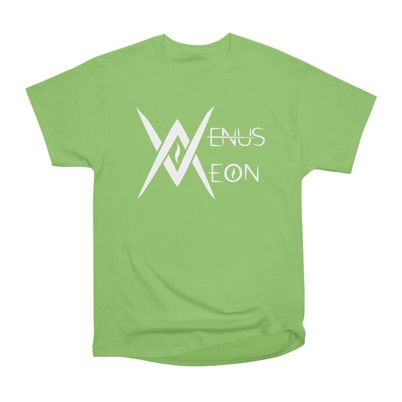Venus Aeon logo (white) Women's Heavyweight Unisex T-Shirt by Venus Aeon (clothing)