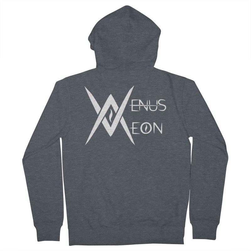 Venus Aeon logo (white) Men's French Terry Zip-Up Hoody by Venus Aeon (clothing)