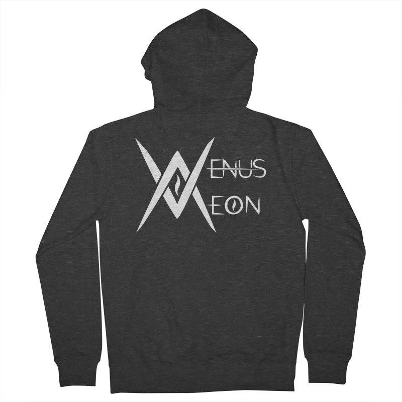 Venus Aeon logo (white) Men's French Terry Zip-Up Hoody by Venus Aeon (clothing)