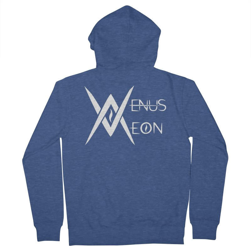 Venus Aeon logo (white) Men's Zip-Up Hoody by Venus Aeon (clothing)