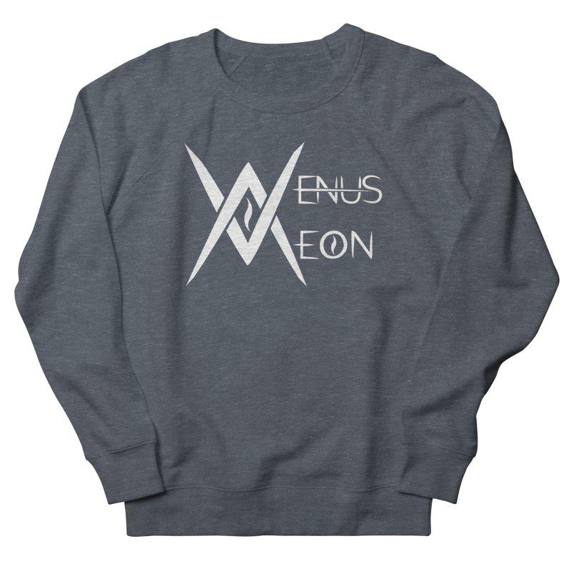 Venus Aeon logo (white) Men's French Terry Sweatshirt by Venus Aeon (clothing)