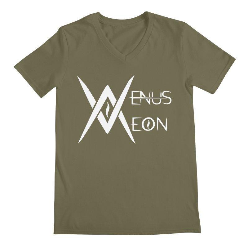 Venus Aeon logo (white) Men's V-Neck by Venus Aeon (clothing)