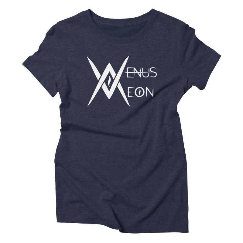 Venus Aeon logo (white) Women's T-Shirt by Venus Aeon (clothing)