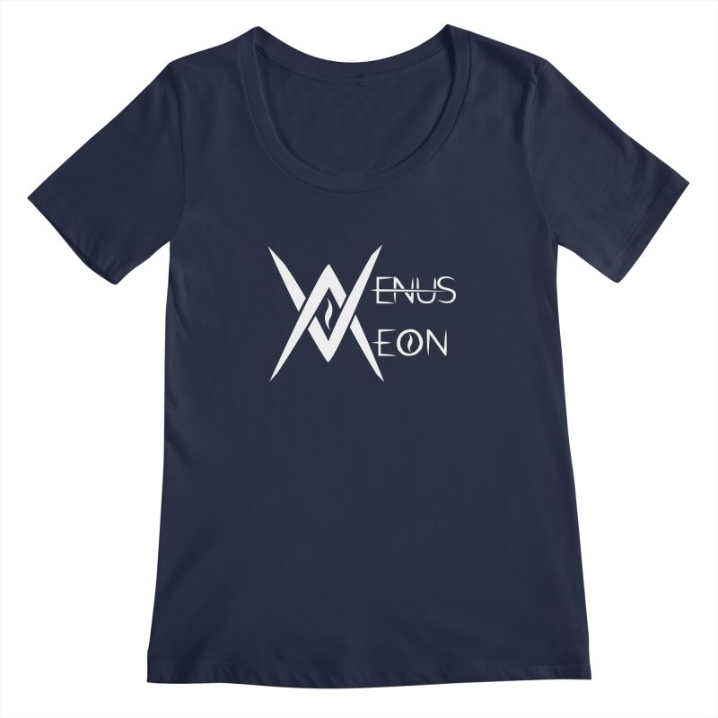 Venus Aeon logo (white) Women's Scoopneck by Venus Aeon (clothing)