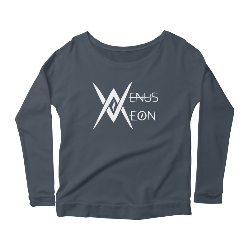 Venus Aeon logo (white) Women's Scoop Neck Longsleeve T-Shirt by Venus Aeon (clothing)