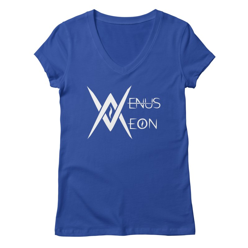 Venus Aeon logo (white) Women's Regular V-Neck by Venus Aeon (clothing)