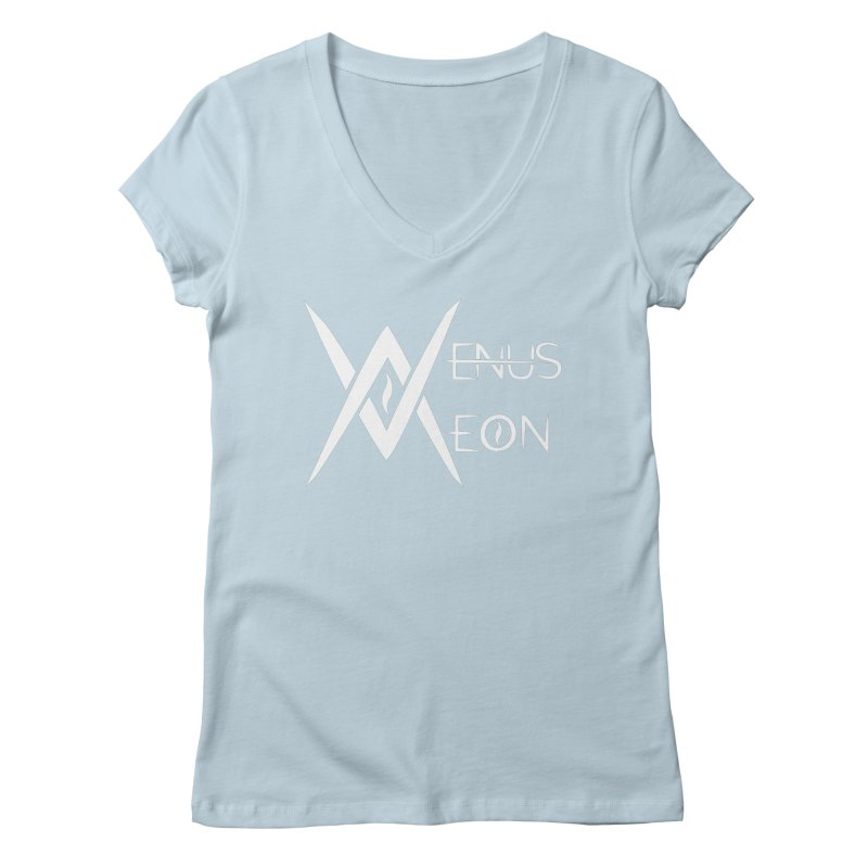 Venus Aeon logo (white) Women's V-Neck by Venus Aeon (clothing)