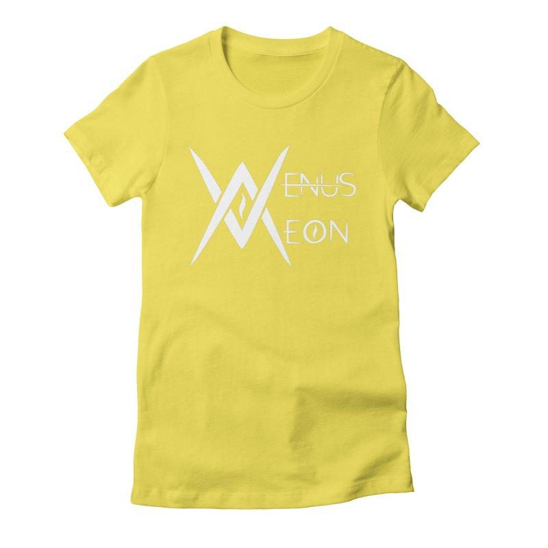 Venus Aeon logo (white) Women's Fitted T-Shirt by Venus Aeon (clothing)